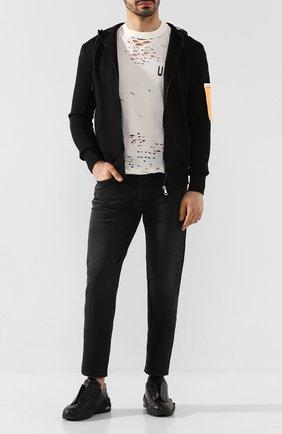 Мужская хлопковая футболка BEN TAVERNITI UNRAVEL PROJECT белого цвета, арт. UMAA004S20JER0050410 | Фото 2