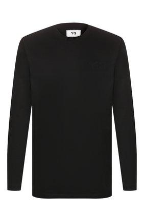 Мужская хлопковый лонгслив Y-3 черного цвета, арт. FN3361/M | Фото 1