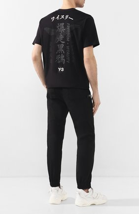 Мужская хлопковая футболка Y-3 черного цвета, арт. GD5061/M | Фото 2