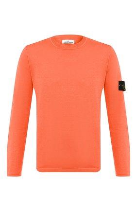 Мужской хлопковый джемпер STONE ISLAND оранжевого цвета, арт. 7215517B3 | Фото 1