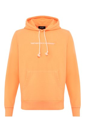 Мужской хлопковое худи DIESEL оранжевого цвета, арт. 00SEGG/0EAZH   Фото 1