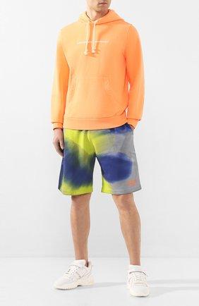 Мужской хлопковое худи DIESEL оранжевого цвета, арт. 00SEGG/0EAZH   Фото 2