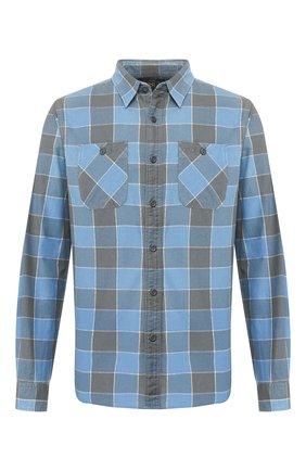 Мужская хлопковая рубашка RRL синего цвета, арт. 782782394 | Фото 1