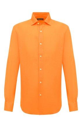Мужская льняная рубашка RALPH LAUREN оранжевого цвета, арт. 790587253 | Фото 1