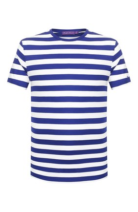 Мужская хлопковая футболка RALPH LAUREN синего цвета, арт. 790775617 | Фото 1