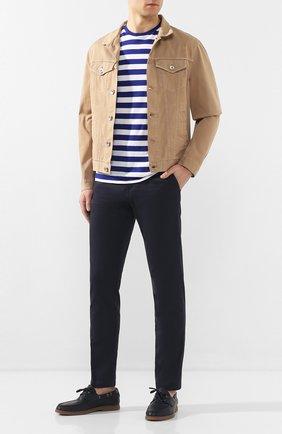 Мужская хлопковая футболка RALPH LAUREN синего цвета, арт. 790775617 | Фото 2