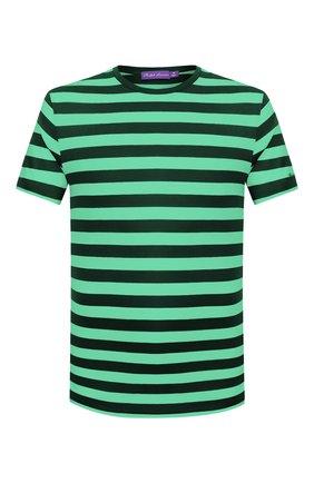 Мужская хлопковая футболка RALPH LAUREN зеленого цвета, арт. 790775617   Фото 1 (Мужское Кросс-КТ: Футболка-одежда; Рукава: Короткие; Материал внешний: Хлопок; Длина (для топов): Стандартные; Стили: Кэжуэл)
