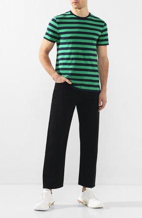 Мужская хлопковая футболка RALPH LAUREN зеленого цвета, арт. 790775617   Фото 2 (Мужское Кросс-КТ: Футболка-одежда; Рукава: Короткие; Материал внешний: Хлопок; Длина (для топов): Стандартные; Стили: Кэжуэл)