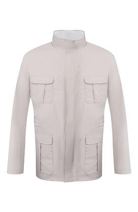Мужская куртка KITON светло-серого цвета, арт. UW0675V07S52   Фото 1