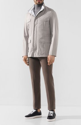 Мужская куртка KITON светло-серого цвета, арт. UW0675V07S52   Фото 2