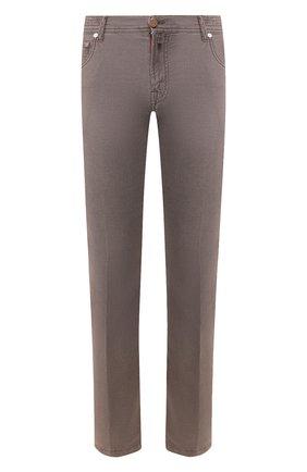 Мужской брюки KITON коричневого цвета, арт. UPNJSJ07S73   Фото 1