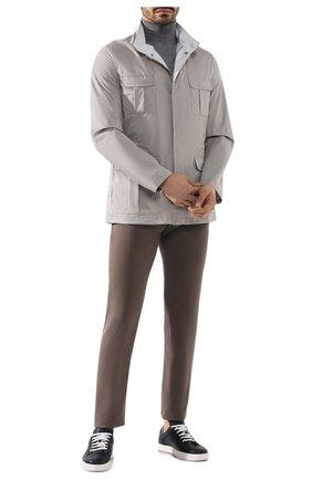 Мужской брюки KITON коричневого цвета, арт. UPNJSJ07S73   Фото 2
