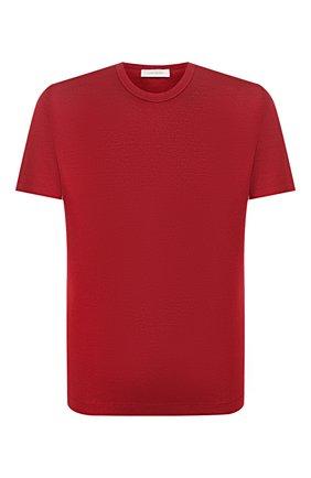 Мужская футболка из смеси хлопка и шелка CORTIGIANI бордового цвета, арт. 816645/0000 | Фото 1