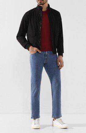 Мужская футболка из смеси хлопка и шелка CORTIGIANI бордового цвета, арт. 816645/0000 | Фото 2