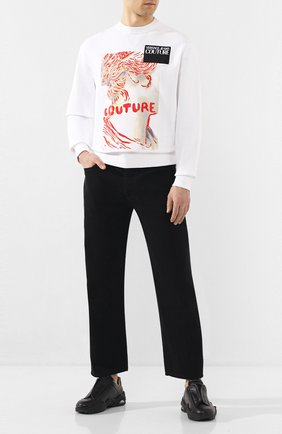Мужской хлопковый свитшот VERSACE JEANS COUTURE белого цвета, арт. B7GVA7VI-VUP302 B SLIM 13/30333 | Фото 2