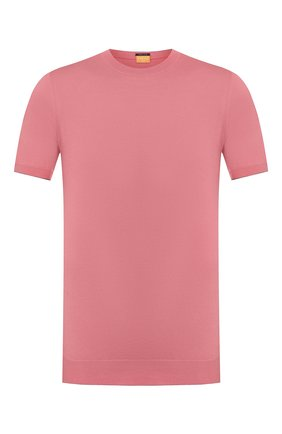 Мужской хлопковый джемпер SVEVO розового цвета, арт. 4650/3SE20/MP46 | Фото 1