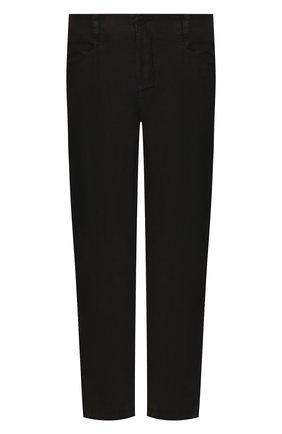 Мужской льняные брюки TRANSIT черного цвета, арт. CFUTRKD131   Фото 1