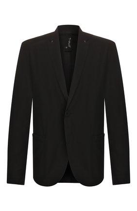 Мужской хлопковый пиджак TRANSIT черного цвета, арт. CFUTRKB113   Фото 1
