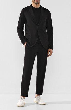 Мужской хлопковый пиджак TRANSIT черного цвета, арт. CFUTRKB113   Фото 2