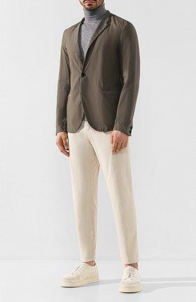 Мужской хлопковые брюки TRANSIT бежевого цвета, арт. CFUTRKB110 | Фото 2