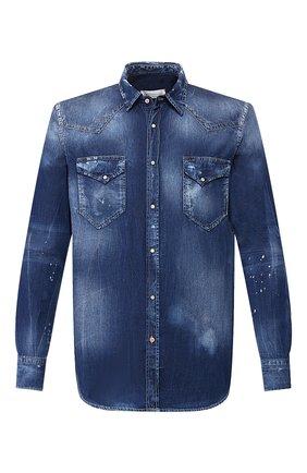 Мужская джинсовая рубашка PREMIUM MOOD DENIM SUPERIOR синего цвета, арт. S20 03512CM/LE0 | Фото 1
