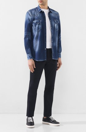 Мужская джинсовая рубашка PREMIUM MOOD DENIM SUPERIOR синего цвета, арт. S20 03512CM/LE0 | Фото 2