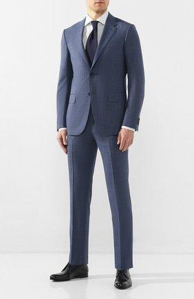Мужской костюм из смеси шерсти и льна ERMENEGILDO ZEGNA голубого цвета, арт. 739548/25M22Y | Фото 1