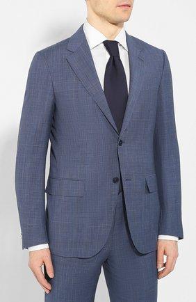 Мужской костюм из смеси шерсти и льна ERMENEGILDO ZEGNA голубого цвета, арт. 739548/25M22Y | Фото 2