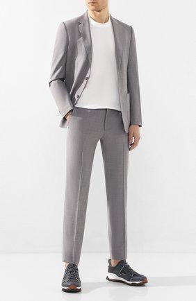 Мужской шерстяной костюм Z ZEGNA светло-серого цвета, арт. 722882/2XPYGX | Фото 1