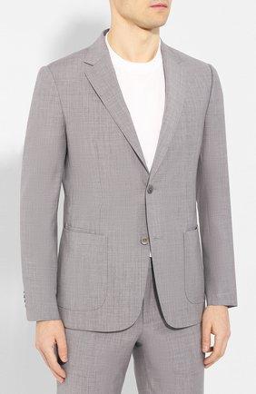 Мужской шерстяной костюм Z ZEGNA светло-серого цвета, арт. 722882/2XPYGX | Фото 2