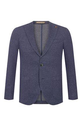 Мужской хлопковый пиджак SARTORIA LATORRE темно-синего цвета, арт. JF74 JE3091 | Фото 1
