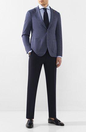Мужской хлопковый пиджак SARTORIA LATORRE темно-синего цвета, арт. JF74 JE3091 | Фото 2