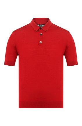 Мужское шерстяное поло DOLCE & GABBANA красного цвета, арт. GX828T/JAVSU | Фото 1