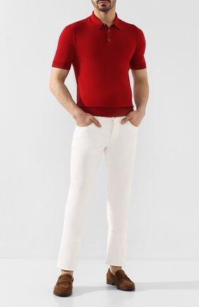 Мужское шерстяное поло DOLCE & GABBANA красного цвета, арт. GX828T/JAVSU | Фото 2