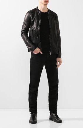 Мужская кожаная куртка DANIELE BASTA черного цвета, арт. DB686X33FRUL/0DE FR UL | Фото 2