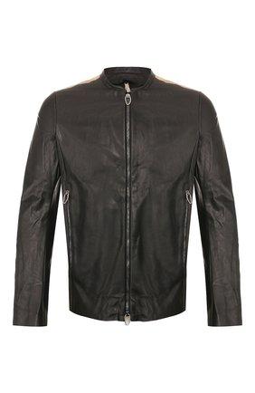 Мужская кожаная куртка DANIELE BASTA черного цвета, арт. DB685X25ZEDUL/SEFU ZED UL | Фото 1