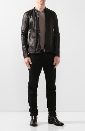 Мужская кожаная куртка DANIELE BASTA черного цвета, арт. DB685X25ZEDUL/SEFU ZED UL | Фото 2