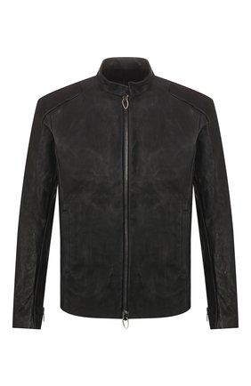 Мужская кожаная куртка DANIELE BASTA черного цвета, арт. DB580X01X02/AGAMENN0NE | Фото 1