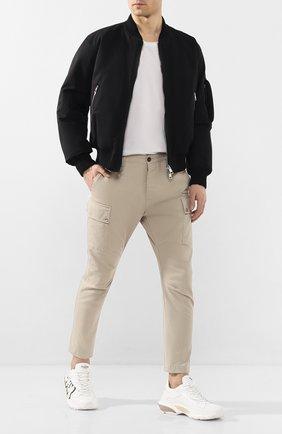 Мужской хлопковые брюки-карго DSQUARED2 бежевого цвета, арт. S74KB0385/S41794 | Фото 2