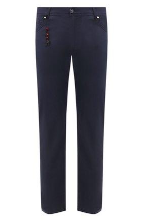Мужской брюки из смеси хлопка и шелка MARCO PESCAROLO синего цвета, арт. NERAN0M18/4104 | Фото 1