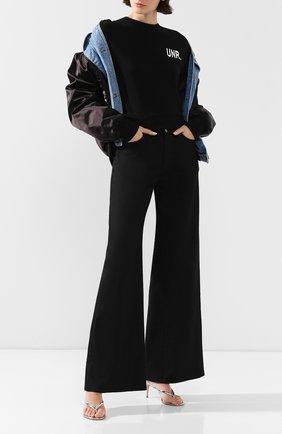 Женские расклешенные джинсы KSUBI черного цвета, арт. 5000004493   Фото 2