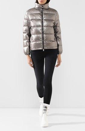 Женский пуховая куртка gris MONCLER серебряного цвета, арт. F1-093-1A520-00-C0437 | Фото 2