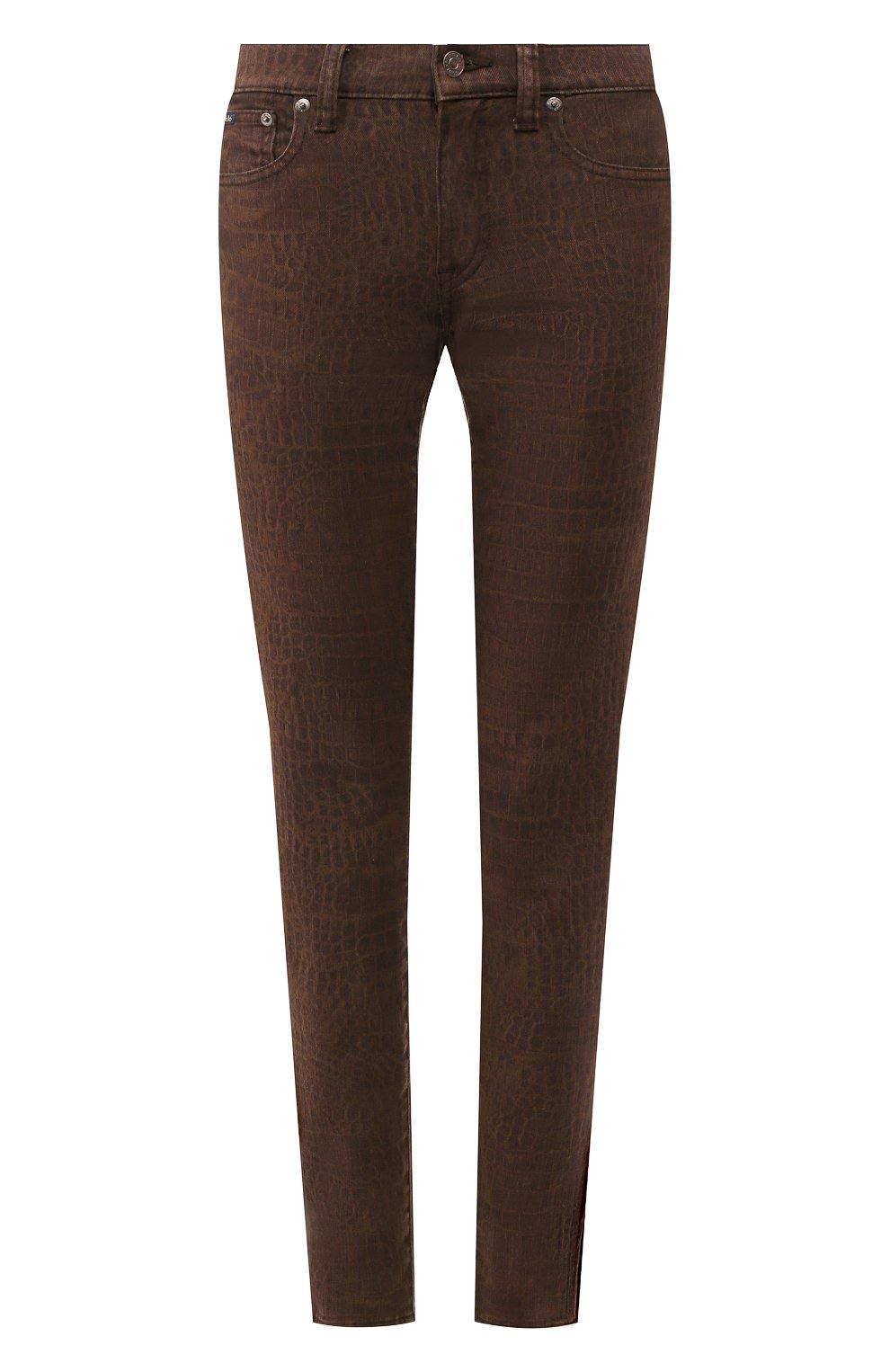 Женские джинсы POLO RALPH LAUREN коричневого цвета, арт. 211778633   Фото 1