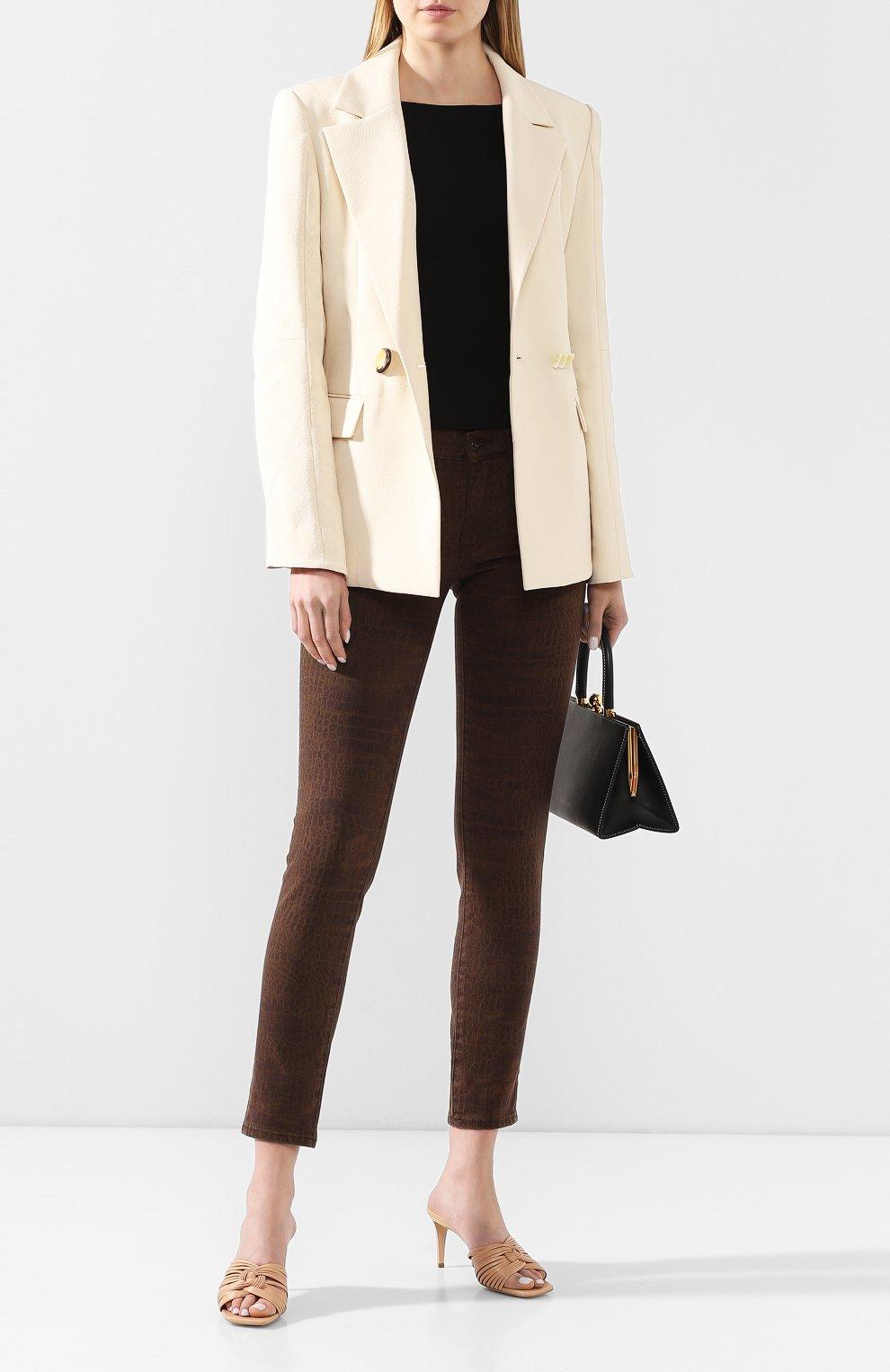Женские джинсы POLO RALPH LAUREN коричневого цвета, арт. 211778633   Фото 2