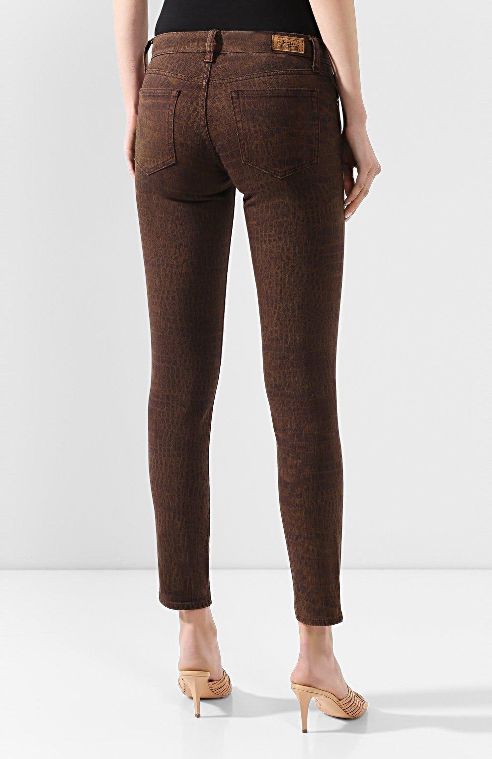 Женские джинсы POLO RALPH LAUREN коричневого цвета, арт. 211778633   Фото 4
