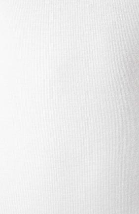 Женское боди ATM ANTHONY THOMAS MELILLO белого цвета, арт. AW1171-EC | Фото 5 (Рукава: Длинные; Принт: Без принта; Стили: Классический, Минимализм, Кэжуэл; Кросс-КТ: с рукавом)