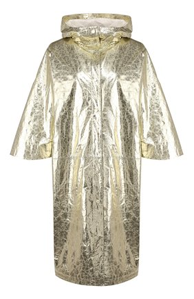 Женский кожаный плащ YVES SALOMON золотого цвета, арт. 20EYC22912APFX | Фото 1