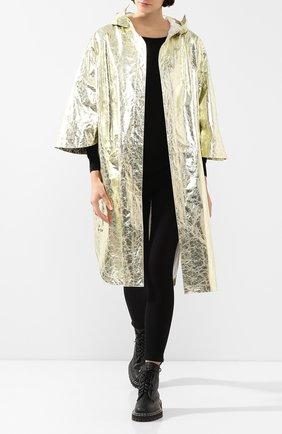 Женский кожаный плащ YVES SALOMON золотого цвета, арт. 20EYC22912APFX | Фото 2