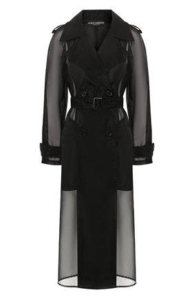 Женский тренч DOLCE & GABBANA черного цвета, арт. F0Z59T/FUMG9 | Фото 1