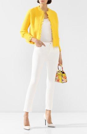 Женские джинсы KITON белого цвета, арт. DJ49101/X08S53 | Фото 2